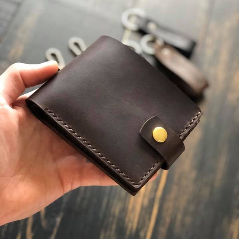 Кожаное портмоне Purse Smart brown leather