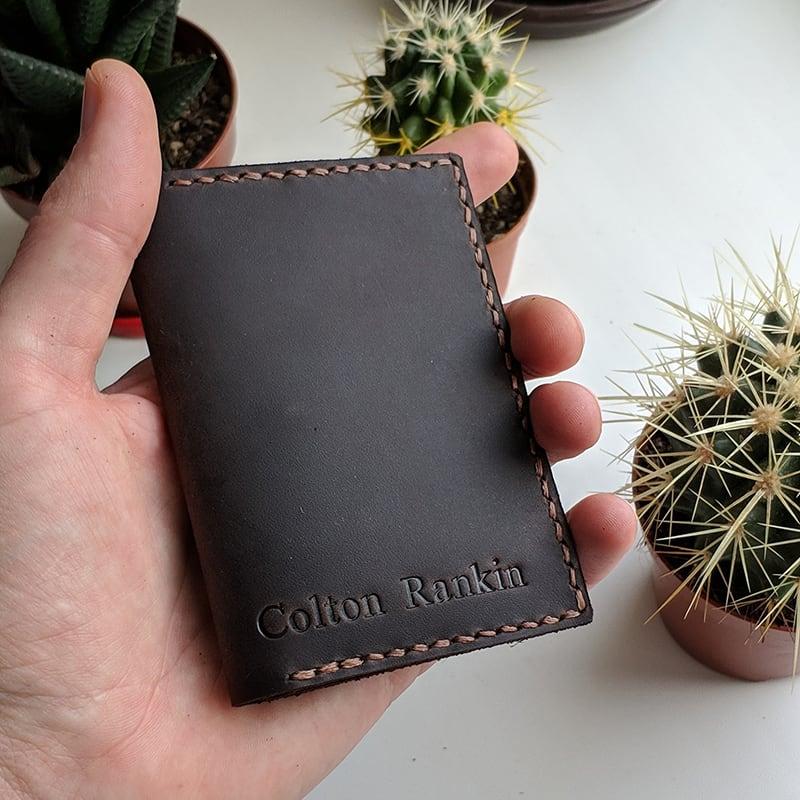 Шкіряне портмоне Purse Crazy Horse brown leather