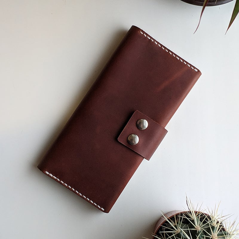 Мужское портмоне Purse Universal brown leather