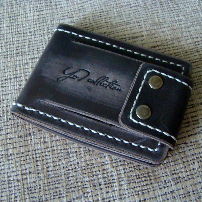 Дизайнерская обложка на водительское удостоверение black leather