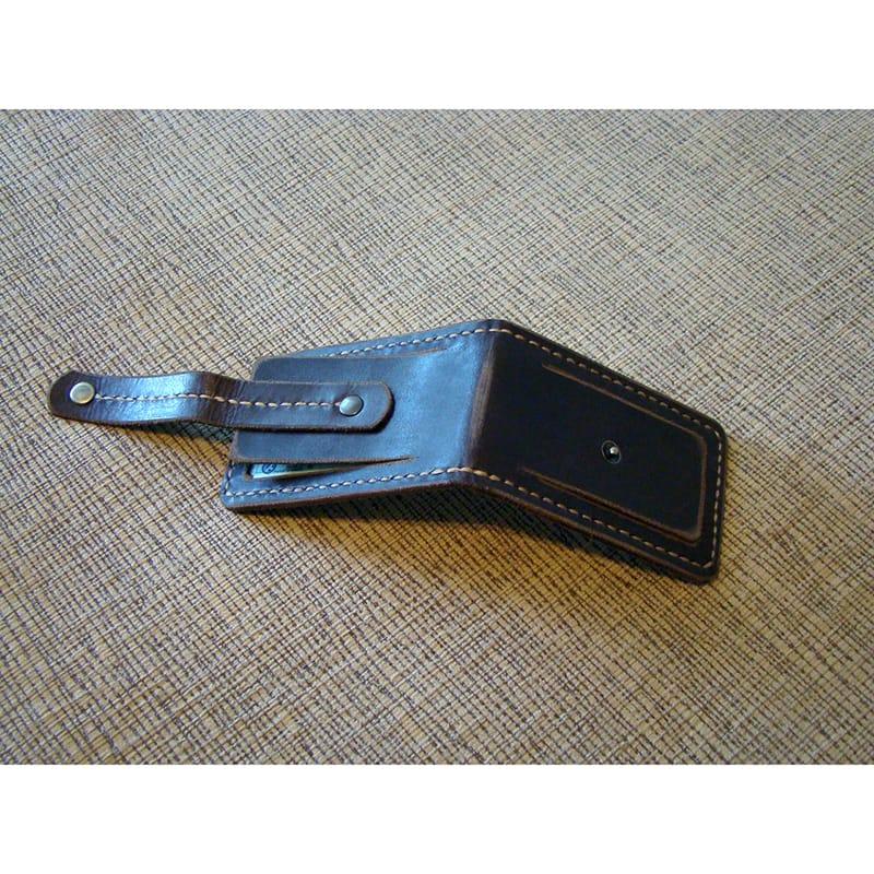 Кожаная обложка на водительское удостоверение brown leather