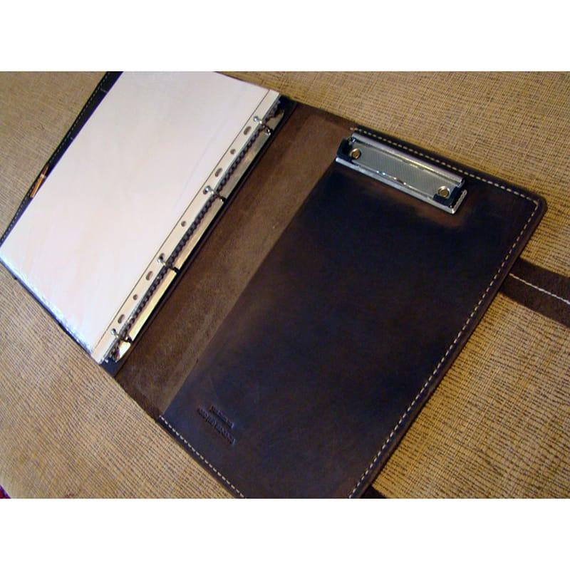 Кожаная дизайнерская папка Vintage black leather