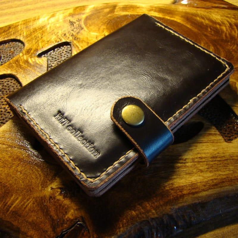 Дизайнерская обложка на паспорт Passport Сover brown leather