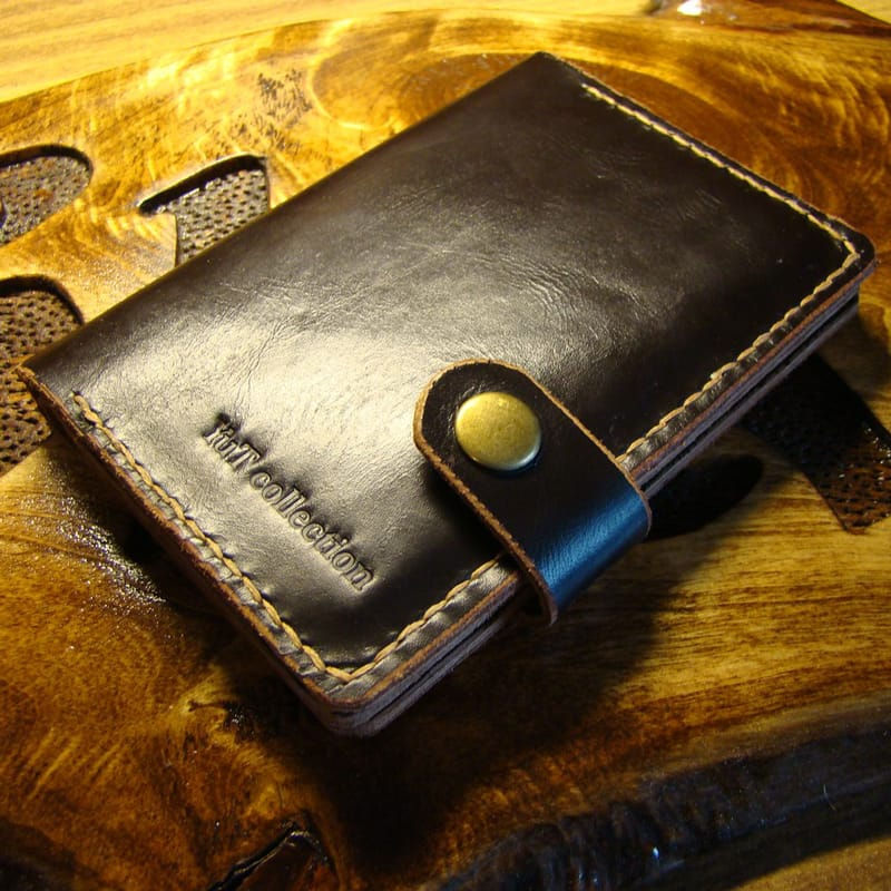 Дизайнерська обкладинка на паспорт Passport Сover brown leather