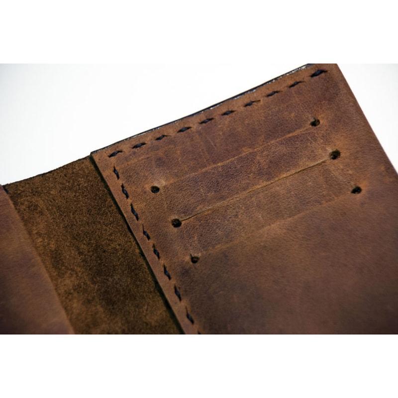 Дизайнерська Handmade обкладинка на паспорт Classical leather