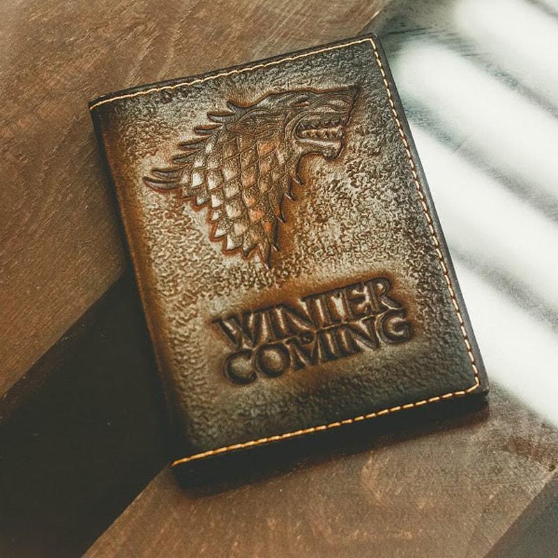 Дизайнерская обложка на паспорт Игра престолов Лютоволк