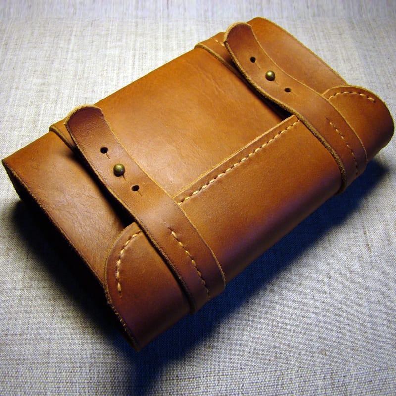 Handmade дизайнерська шкіряна візитниця Business Card Redwood