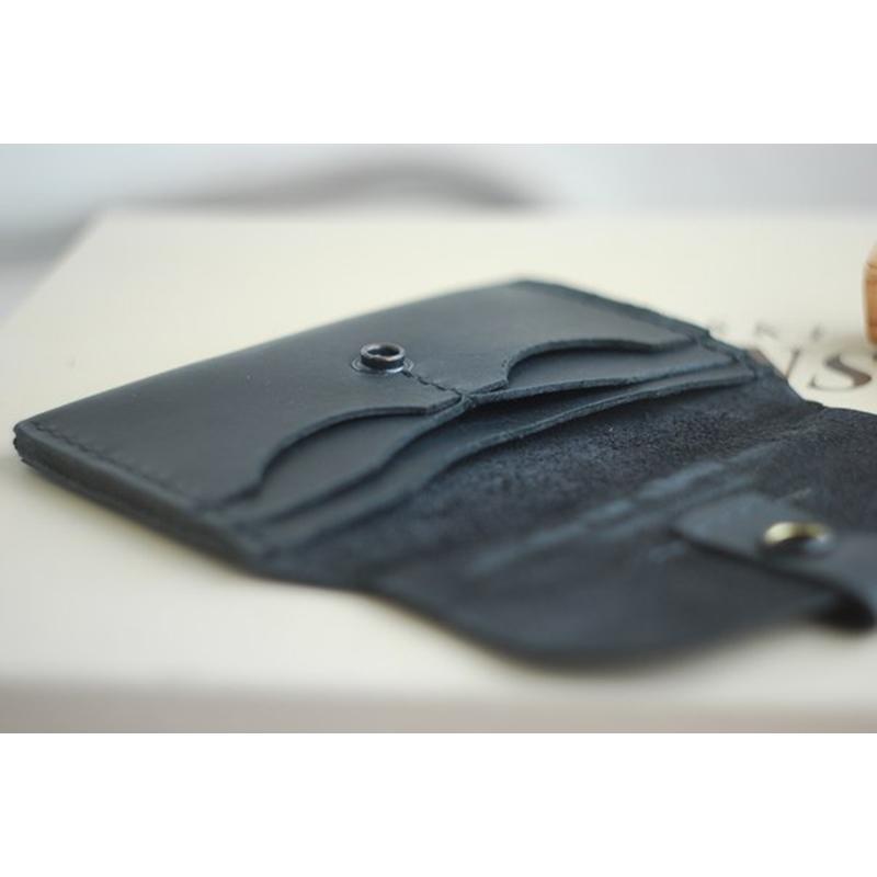 Кожаный чехол для документов black leather
