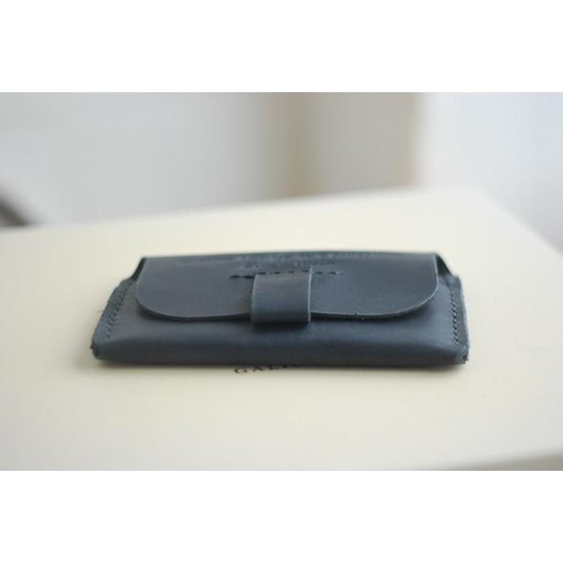 Шкіряний чохол для документів black leather