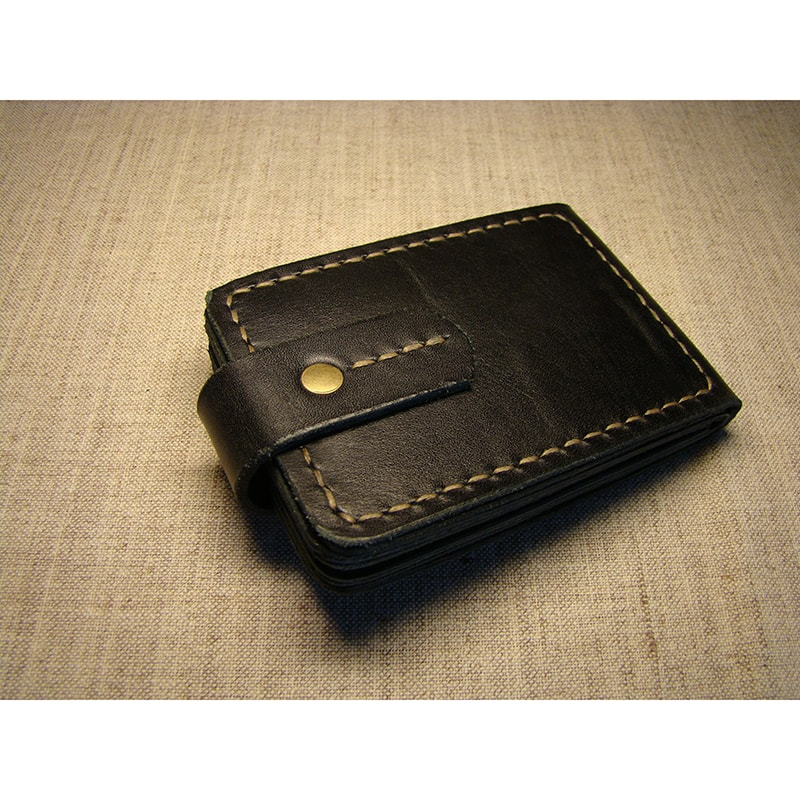 Кожаный органайзер для документов black