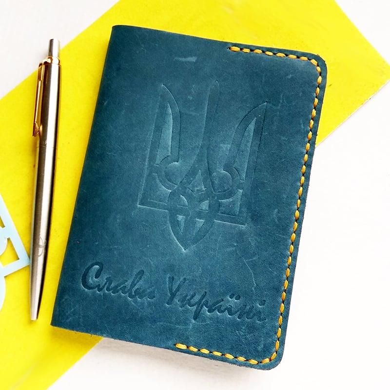 Обложка на паспорт в подарок Патриот leather