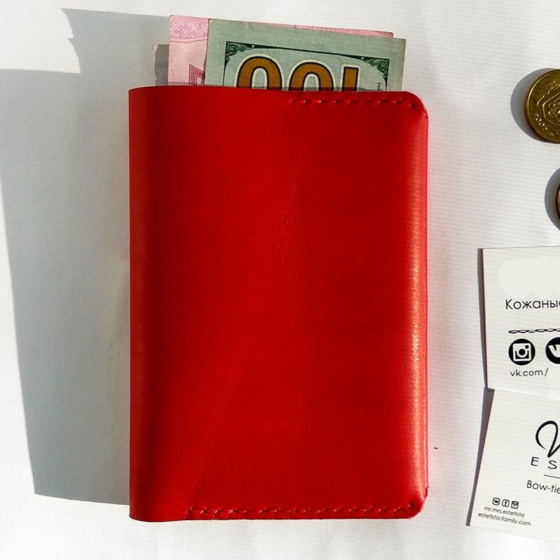 Портмоне кожаное для авто-документов в подарок Car
