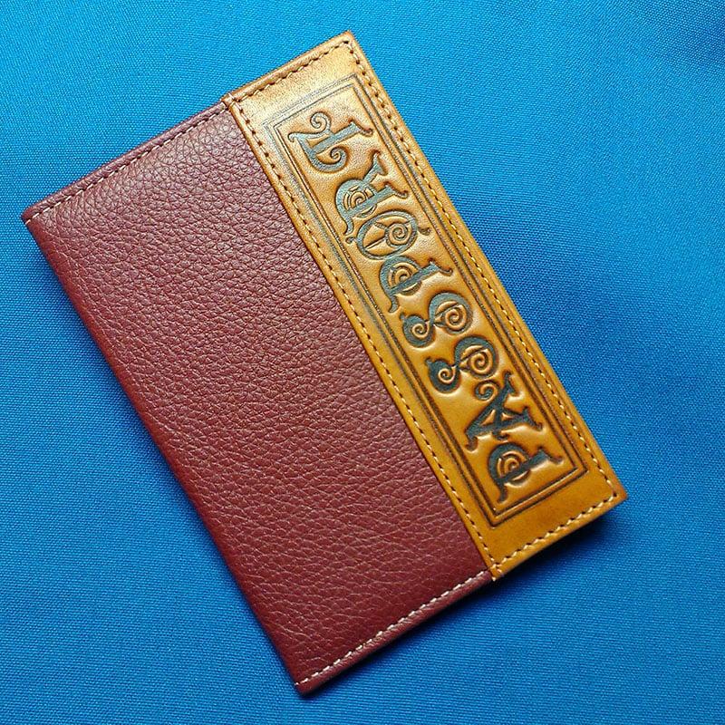 Обложка на паспорт в подарок Passport Redhead leather