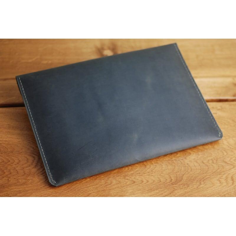 Кожаная папка А4 Folio black leather