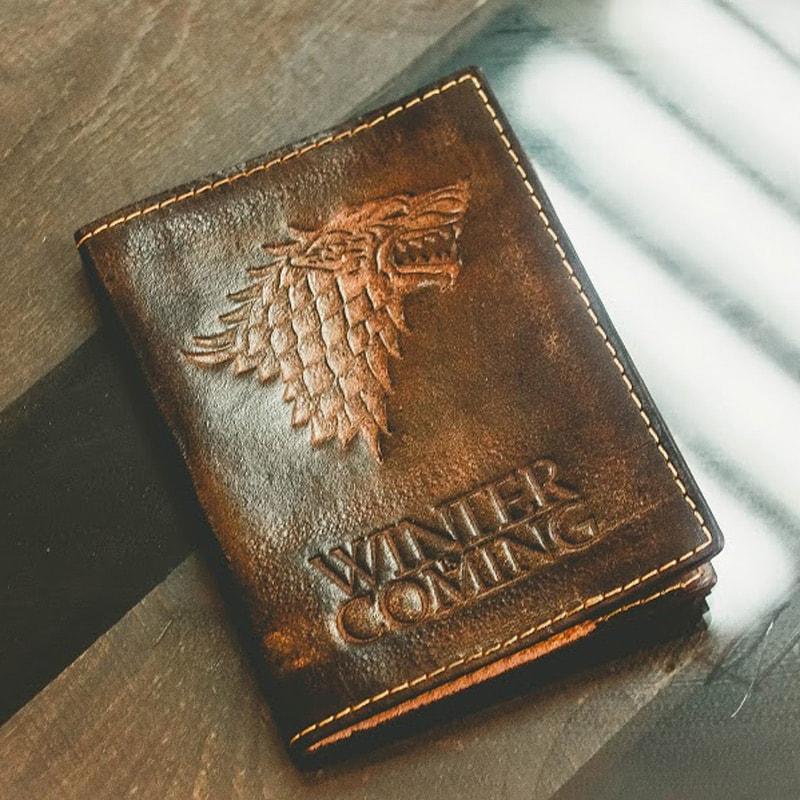 Винтажная обложка на паспорт Handmade Дом Старков