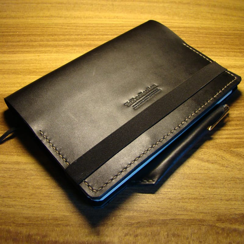 Кожаный блокнот Business Organizer black leather