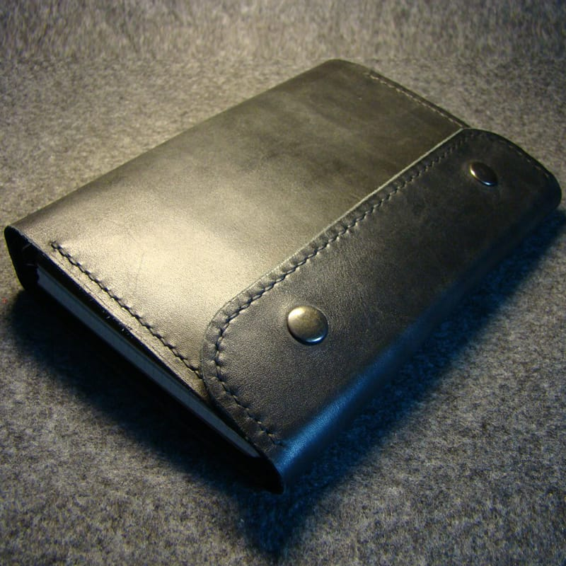 Брендовый кожаный органайзер Stalker black leather