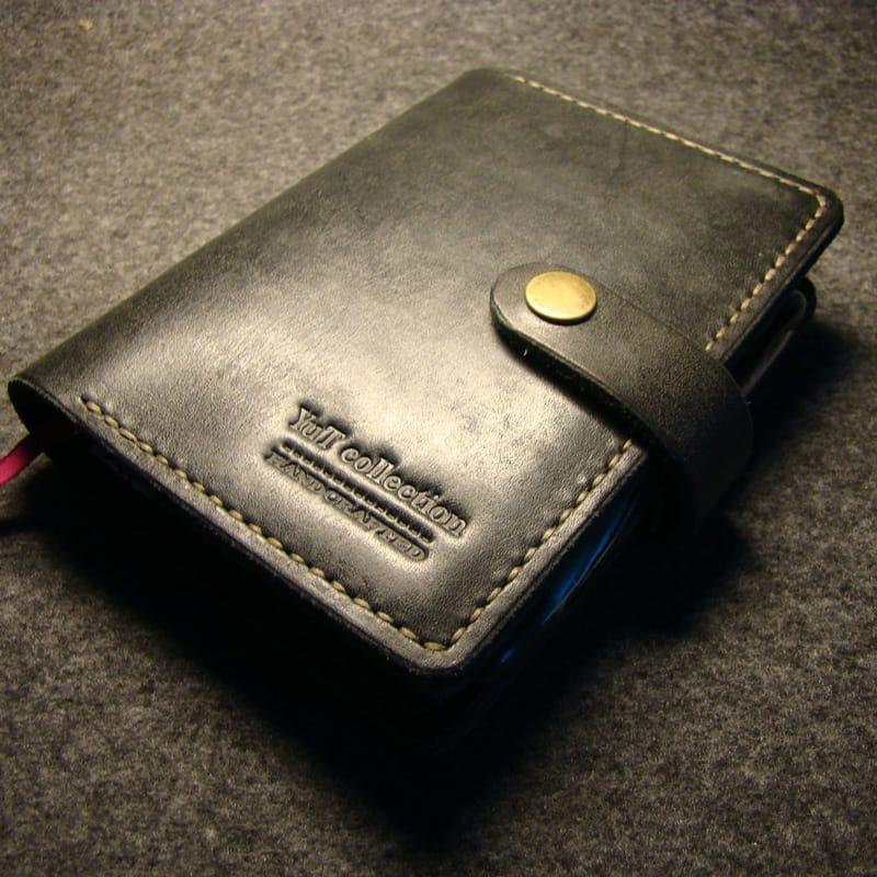 Авторская кожаная обложка на блокнот Jotter black leather