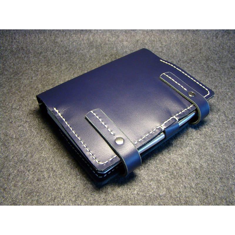 Дизайнерский органайзер Handmade Italy blue leather