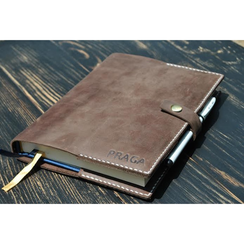 Обкладинка для блокнота Cappuccino leather
