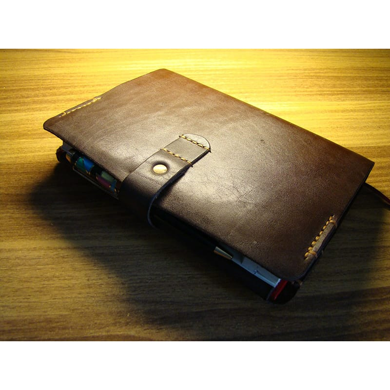 Брендовый кожаный блокнот Standard brown leather