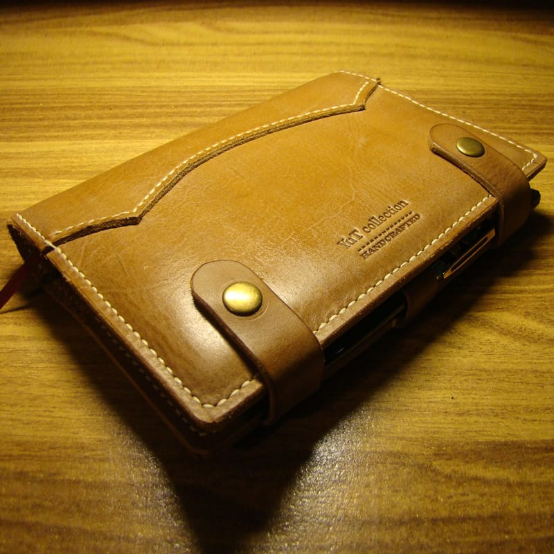 Стильний шкіряний блокнот Organiser brown leather