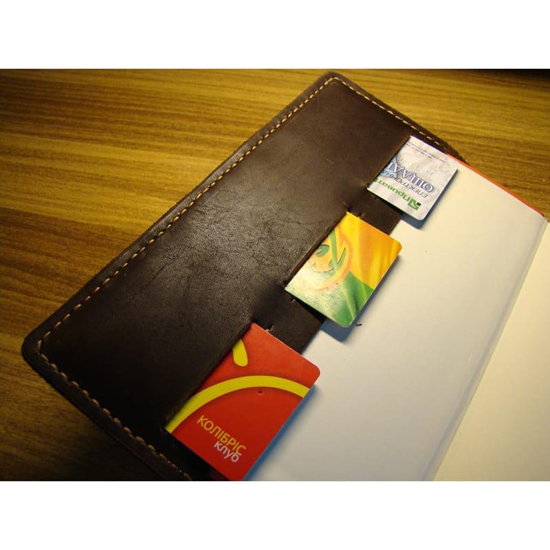 Стильный кожаный блокнот Notebook brown leather