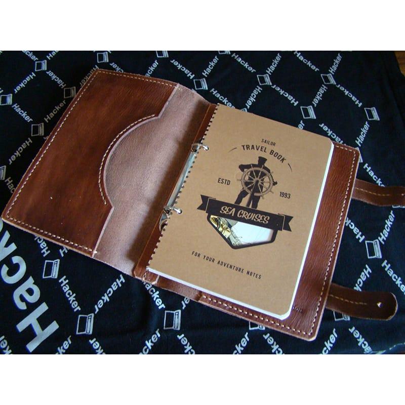 Стильный дизайнерский ежедневник Notepad brown leather
