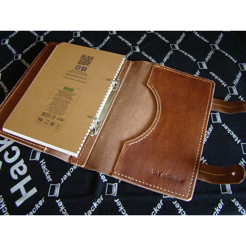 Стильний дизайнерський щоденник Notepad brown leather