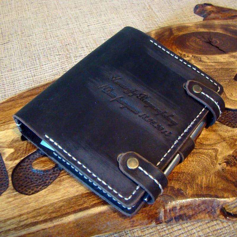 Органайзер кожаный мужской Notebook brown leather
