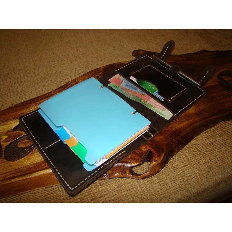 Органайзер шкіряний чоловічий Notebook brown leather