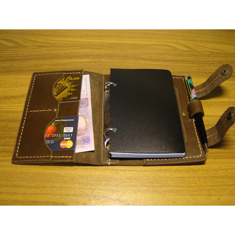 Handmade брендовый блокнот Scheduler brown leather
