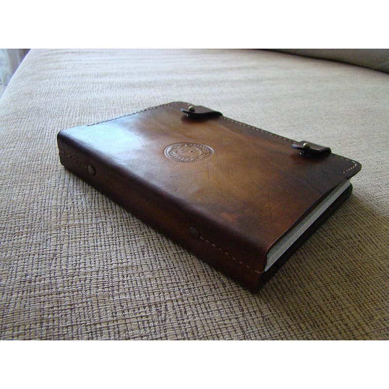 Handmade кожаный блокнот Scheduler brown leather