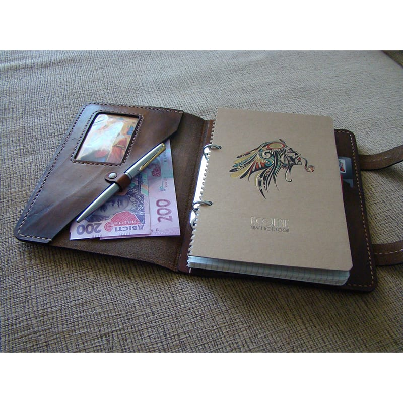 Кожаный органайзер Scheduler brown leather