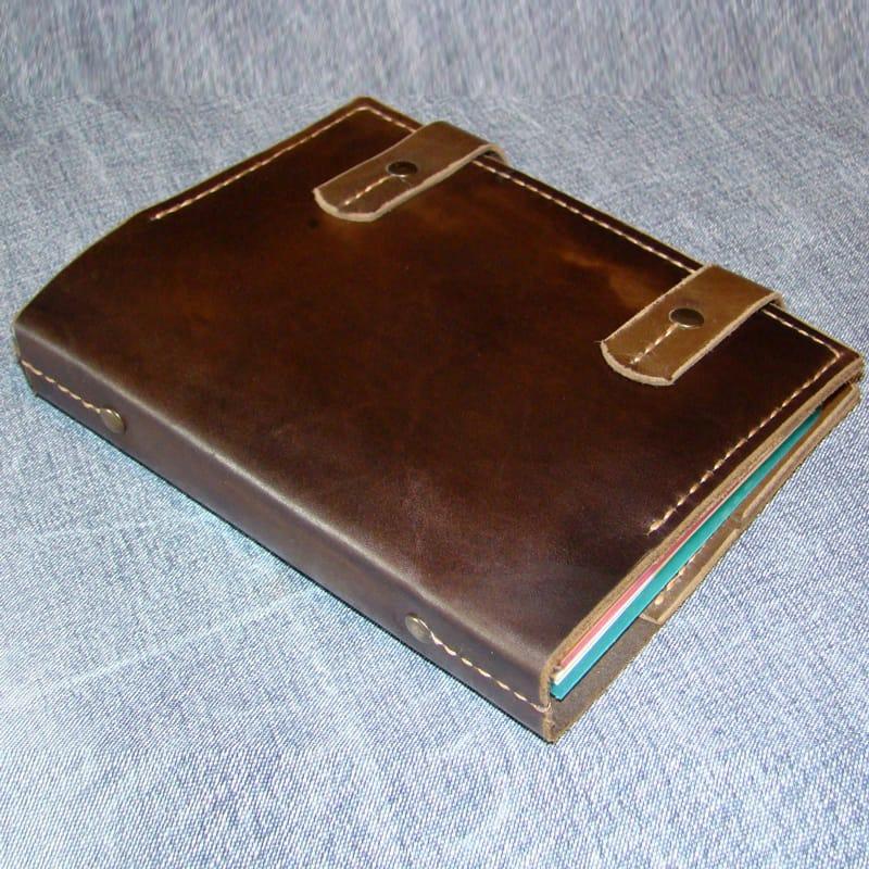 Стильный брендовый ежедневник блокнот Diary brown leather