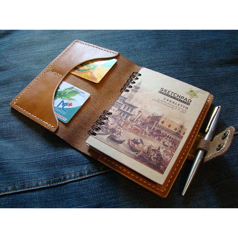 Дизайнерский брендовый блокнот Sketchpad brown leather