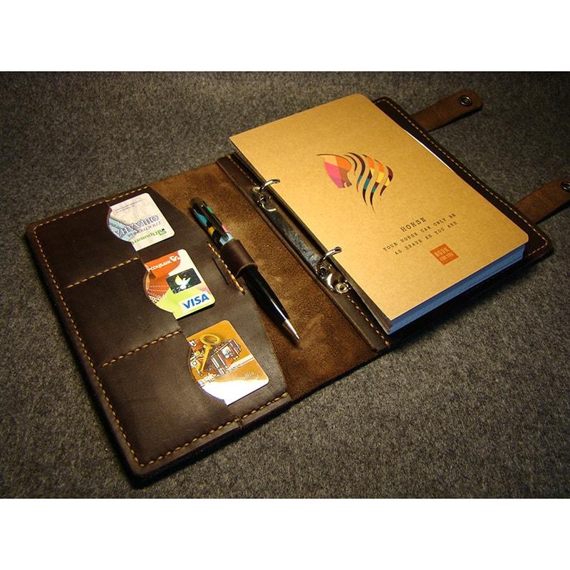 Щоденник чоловічий у шкіряній обкладинці Retro Style brown leather