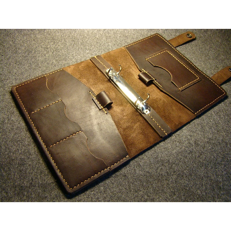 Ежедневник мужской в кожаной обложке Retro Style brown leather