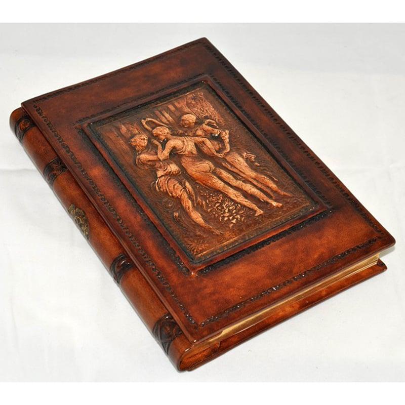 Записная книга в подарок Florentia Grazie brown leather
