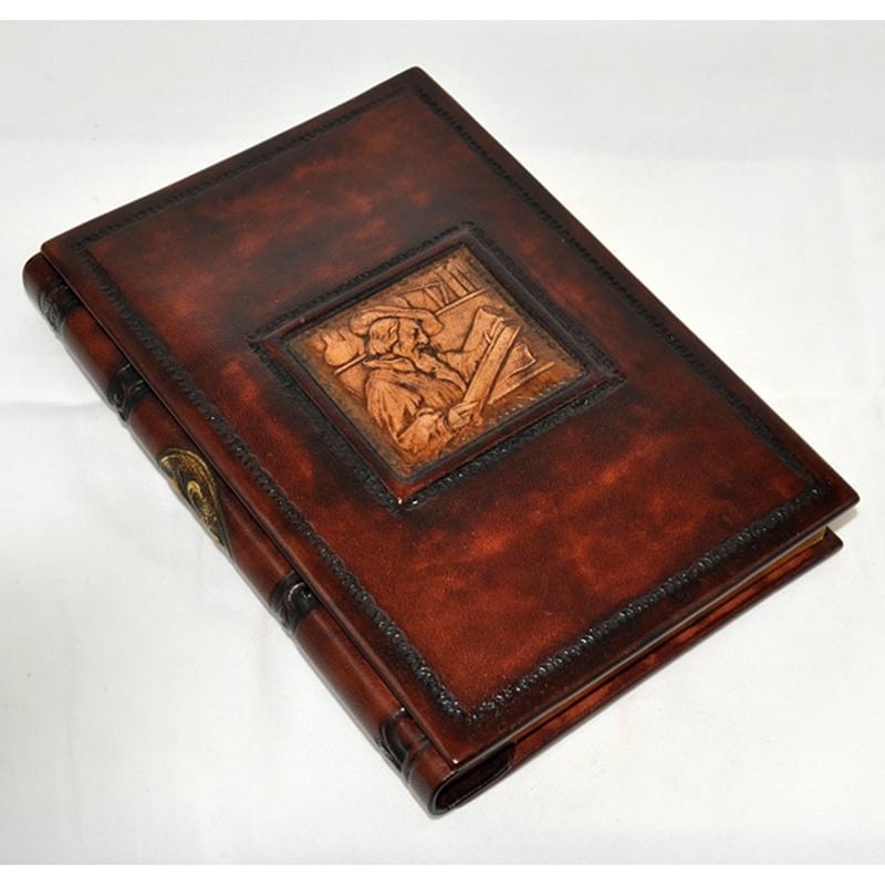 Записная книга handmade Florentia Leonardo brown leather
