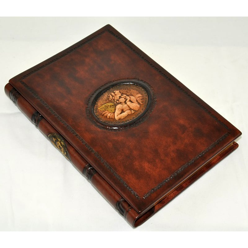 Шкіряна записна книга Florentia Thinking Angel brown leather
