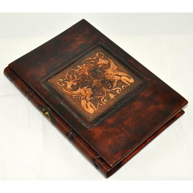 Блокнот ручной работы Florentia Dragons brown leather