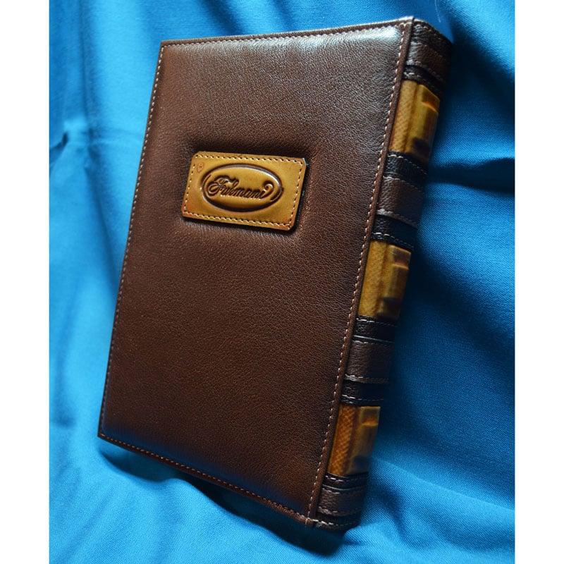 Ежедневник handmade в подарок IVANHOE brown leather
