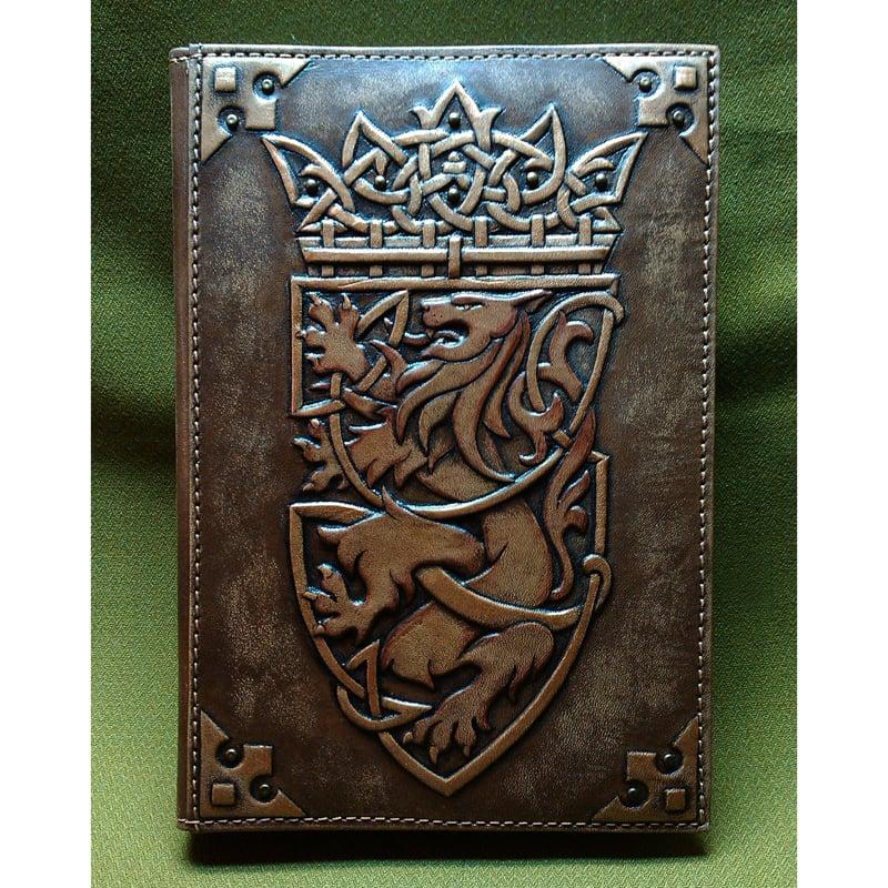 Ежедневник в подарок кожаный KING LION brown leather