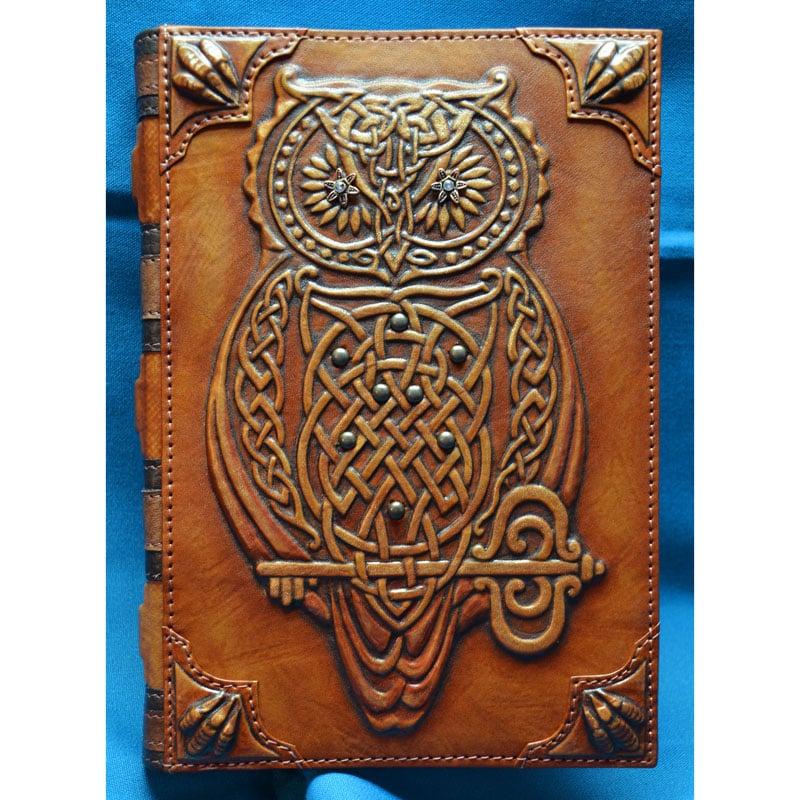 Нandmade кожаный ежедневник MAGIC OWL brown leather