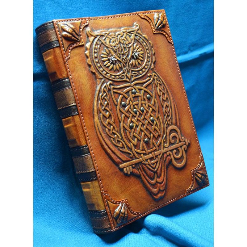 Блокнот чоловічий в шкіряній палітурці MAGIC OWL brown leather