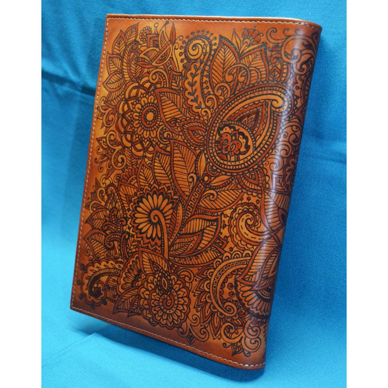 Дизайнерский ежедневник в подарок MEHNDI brown leather