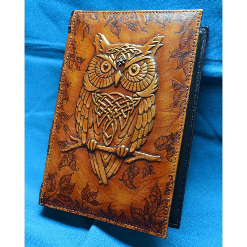 Авторский ежедневник в подарок WISE OWL brown leather