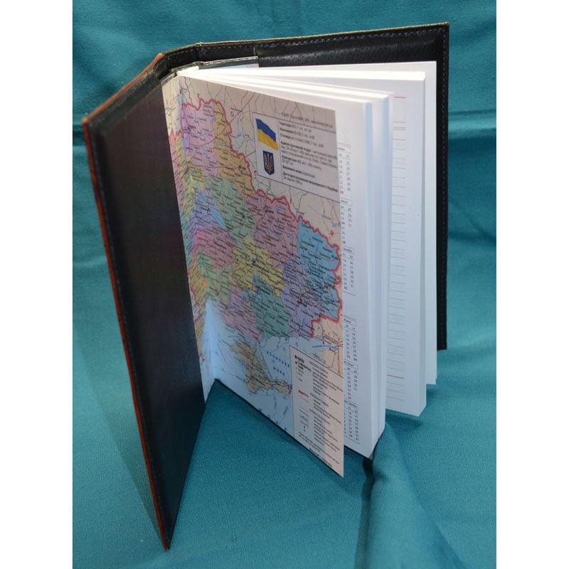 Шкіряний щоденник з гравіюванням WISE OWL brown leather