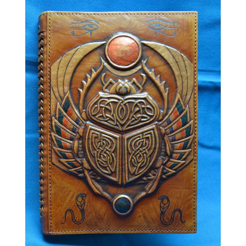 Ежедневник авторский в подарок SCARAB brown leather